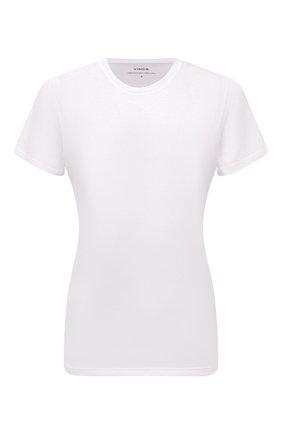 Женская хлопковая футболка VINCE белого цвета, арт. VR59183107 | Фото 1