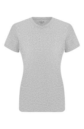 Женская хлопковая футболка VINCE серого цвета, арт. VR59183107 | Фото 1