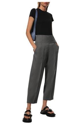 Женская хлопковая футболка VINCE черного цвета, арт. VR59183107 | Фото 2