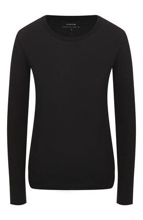 Женская хлопковый лонгслив VINCE черного цвета, арт. VR60783189 | Фото 1