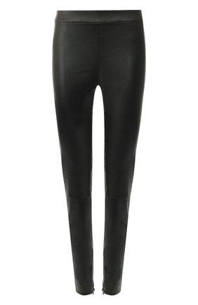Укороченные кожаные леггинсы Vince черные | Фото №1