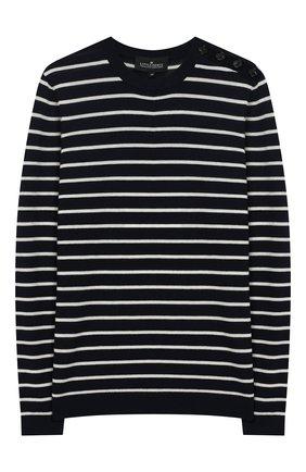 Шерстяной пуловер в полоску | Фото №1
