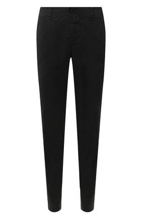 Хлопковые брюки прямого кроя Transit темно-серые | Фото №1