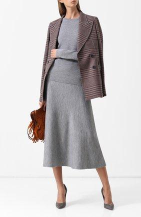Женская пуловер из смеси шерсти и кашемира GABRIELA HEARST серого цвета, арт. F18GH920 | Фото 2