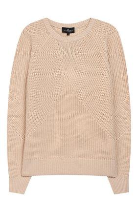 Шерстяной пуловер фактурной вязки | Фото №1