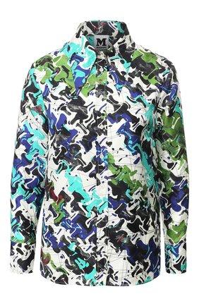 Шелковая блуза с принтом   Фото №1