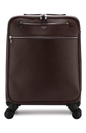 Дорожный чемодан на колесиках Serapian бордовая | Фото №1