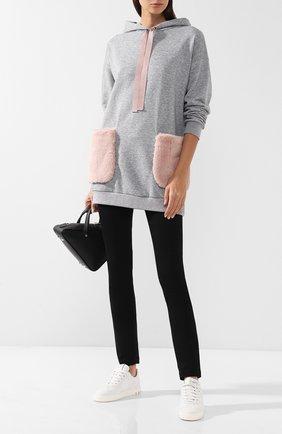 Женские однотонные джинсы прямого кроя PIETRO BRUNELLI черного цвета, арт. JP0041/C00527 | Фото 2
