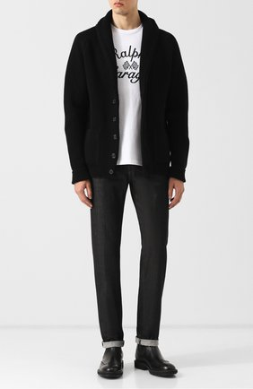 Мужские джинсы прямого кроя KITON черного цвета, арт. UPNJS1/J02R55 | Фото 2