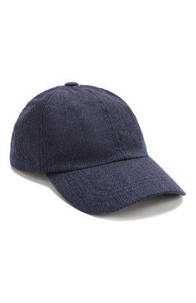 Мужской шерстяная бейсболка RALPH LAUREN синего цвета, арт. 790727485 | Фото 1