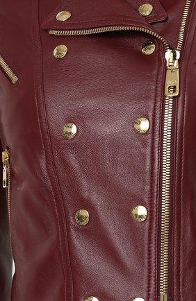 Укороченная кожаная куртка   Фото №5