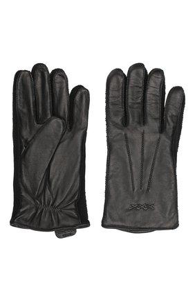 Мужские кожаные перчатки ERMENEGILDO ZEGNA черного цвета, арт. GK271/NPA | Фото 2