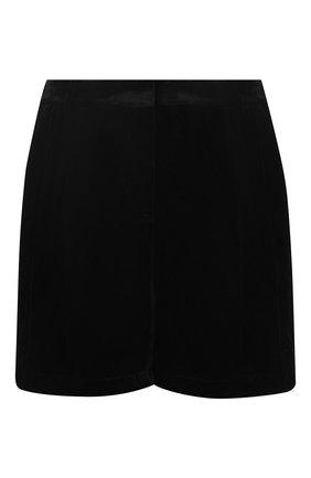 Бархатные мини-шорты Zuhair Murad черные | Фото №1