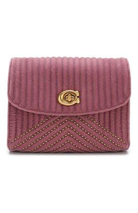 Сумка Parker 18 small Coach розовая цвета | Фото №1