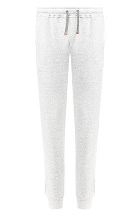 Хлопковые джоггеры с карманами Eleventy Platinum светло-серые | Фото №1