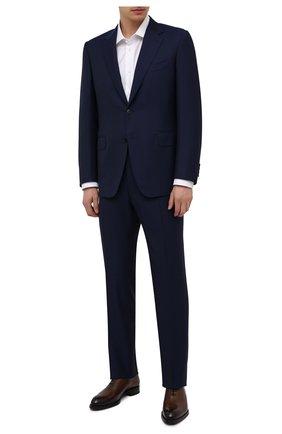 Мужской шерстяной костюм CANALI синего цвета, арт. 11280/10/AA00099 | Фото 1
