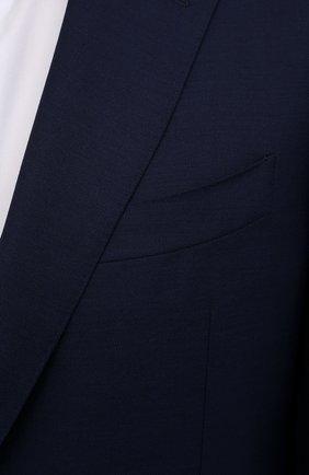 Мужской шерстяной костюм CANALI синего цвета, арт. 11280/10/AA00099   Фото 6 (Материал внешний: Шерсть; Рукава: Длинные; Big photo: Big photo; Костюмы М: Однобортный; Стили: Классический; Материал подклада: Купро; Статус проверки: Проверена категория)