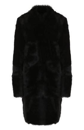 Двубортное меховое пальто из овчины | Фото №1