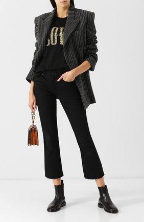 Однотонные кожаные челси Isabel Marant черные   Фото №1