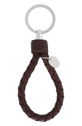 Кожаный брелок для ключей с плетением intrecciato | Фото №2