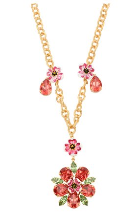 Колье с декором и отделкой кристаллами Swarovski Dolce & Gabbana золотое   Фото №1