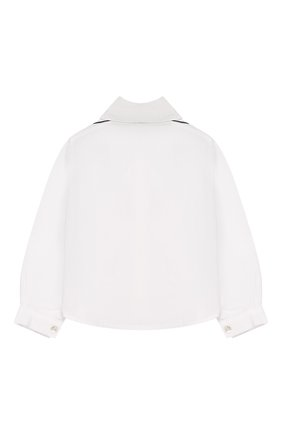 Хлопковая блуза с оборками | Фото №2