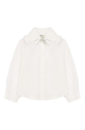 Хлопковая блуза с декоративным воротником | Фото №1