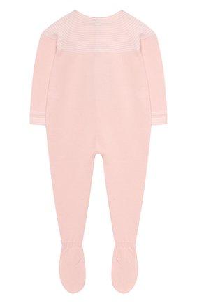 Шерстяной комбинезон на молнии Baby T светло-розового цвета | Фото №1