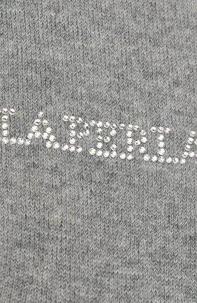 Детские колготки из шерсти LA PERLA серого цвета, арт. 47012/4-6 | Фото 2