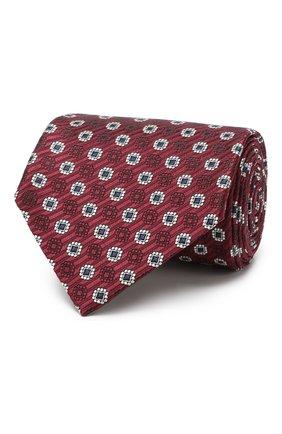 Мужской шелковый галстук с узором ERMENEGILDO ZEGNA бордового цвета, арт. Z4E10/1XW | Фото 1