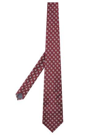 Мужской шелковый галстук с узором ERMENEGILDO ZEGNA бордового цвета, арт. Z4E10/1XW | Фото 2