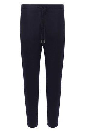 Шерстяные брюки прямого кроя Windsor темно-синие | Фото №1