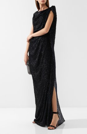 Платье-макси с разрезом Roland Mouret черное   Фото №1