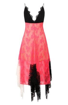 Кружевное платье-миди с оборками | Фото №1