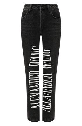 Укороченные джинсы с логотипом бренда | Фото №1