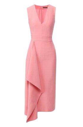 Шелковое платье с оборкой | Фото №1