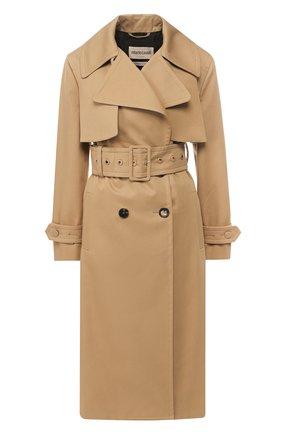 Двубортное пальто с поясом | Фото №1