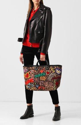 Сумка-шоппер Capri Dolce & Gabbana коричневая цвета   Фото №1