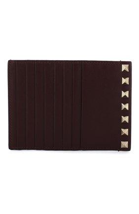 Кожаный футляр для кредитных карт Valentino Garavani Rockstud | Фото №1