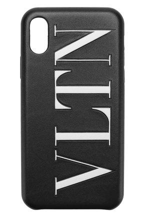 Кожаный чехол для iPhone X Valentino  | Фото №1