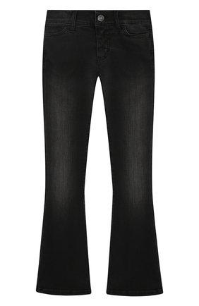 Расклешенные джинсы с декоративными потертостями | Фото №1