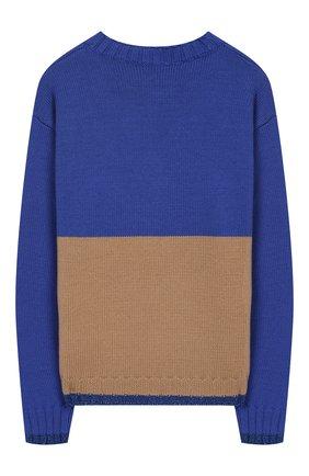 Детский пуловер с декором Ermanno Scervino разноцветного цвета | Фото №1