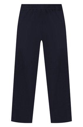 Хлопковые брюки с лампасами Ermanno Scervino синего цвета | Фото №1