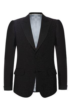Шерстяной пиджак с шелковыми лацканами   Фото №1