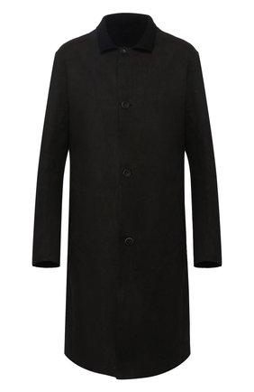 Однобортное пальто их кожи Isaac Sellam черного цвета | Фото №1