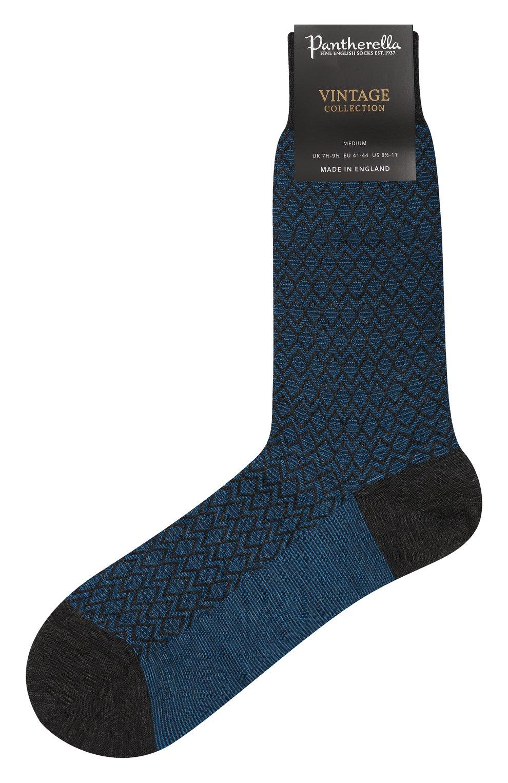 Мужские шерстяные носки PANTHERELLA бирюзового цвета, арт. 593061 | Фото 1