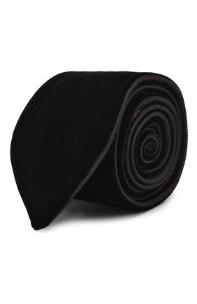 Мужской галстук из вискозы GIORGIO ARMANI черного цвета, арт. 360088/8A961   Фото 1