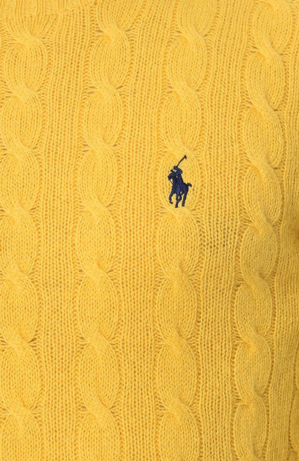 Мужской джемпер из смеси шерсти и кашемира POLO RALPH LAUREN желтого цвета, арт. 710719546 | Фото 5