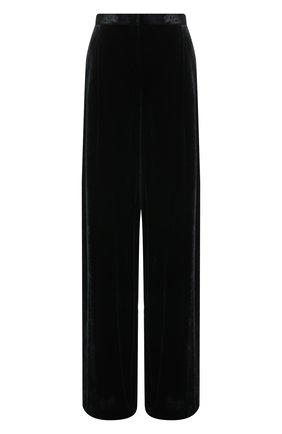 Бархатные брюки свободного кроя Zuhair Murad черные | Фото №1