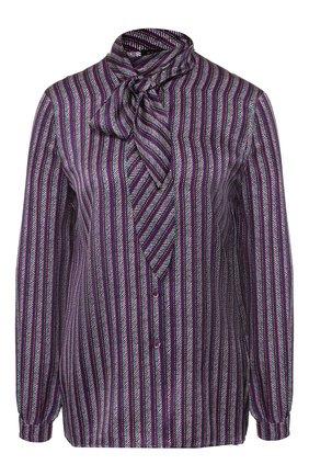 Шелковая блуза с воротником аскот | Фото №1
